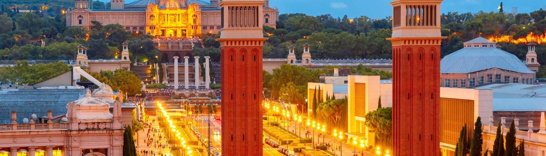 Barcelona groepsreis Placa Espanya torens