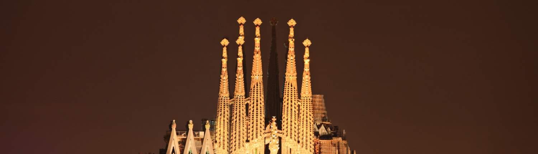 Barcelona groepsreis Sagrada Familia nacht