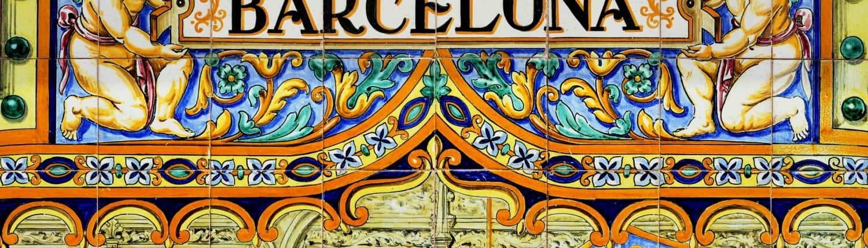 Barcelona groepsreis Straatbord