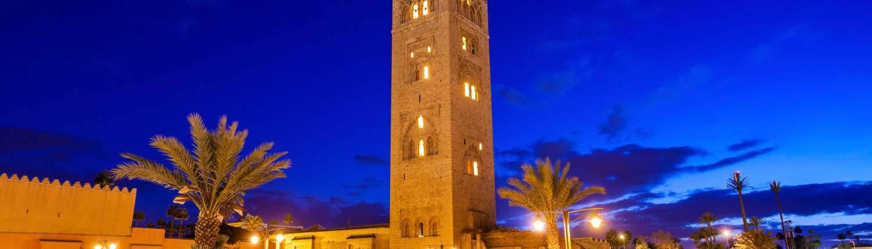 Marrakech Groepsreis Koutoubia Moskee night